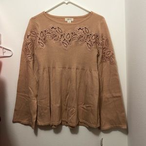 NWT Boho Bell Sleeve Top